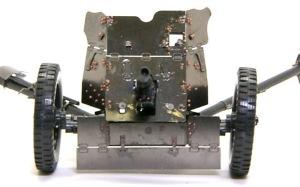3.7cm対戦車砲Pak35/36 リベットを打った防盾