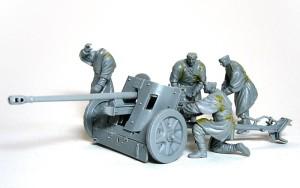 5cm対戦車砲Pak38 フィギュアの組立て