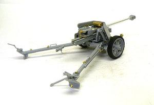 7.5cmPak40対戦車砲 組立て完了