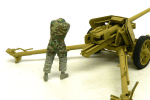 7.5cmPak40対戦車砲 フィギュアの制作開始
