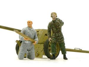 7.5cmPak40対戦車砲 フィギュア1体目