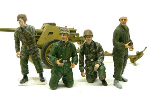 7.5cmPak40対戦車砲 フィギュアの製作