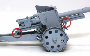 8.8cm対戦車砲Pak43/41 運搬用に留め具を固定