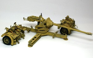 8.8cm対戦車砲Pak43/3 ドライブラシ