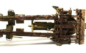 8.8cm対戦車砲Pak43/41 泥汚れ