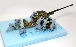 8.8cm対戦車砲兵セット サフ吹きとレイアウトの確認