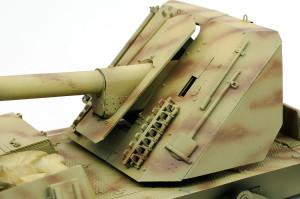 防盾や砲身のチッピング