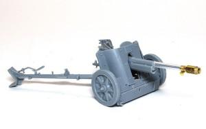 7.5cm対戦車砲Pak97/38 砲の組立て