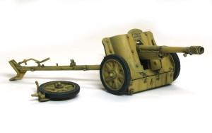 7.5cm対戦車砲Pak97/38 ドライブラシ