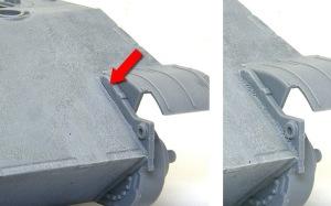 パンターG後期型 溶接痕の修正