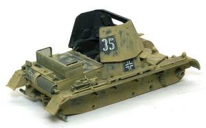 1号対戦車自走砲4.7cmPak(t) アクリル溶剤で塗料を剥がす