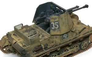 1号対戦車自走砲4.7cmPak(t) 車体にも銀ブラシ