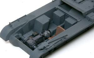 1号対戦車自走砲4.7cmPak(t) インテリアの塗装
