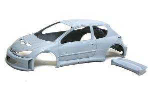 プジョー206 WRC2002 下地づくり