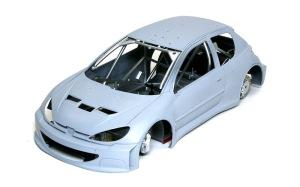 プジョー206 WRC2002 ボディをかぶせてみた