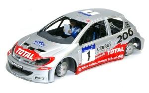 プジョー206 WRC2002 デカール貼り