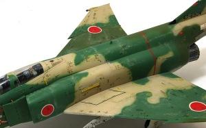 RF-4Eファントム2 機体正面のウエザリング