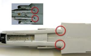 RF-4Eファントム2 フェアリングの修正