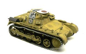 1号戦車A初期型 ジャーマングレーでドライブラシ