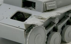 2号戦車F型 フェンダーのダメージ