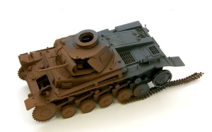 2号戦車F型 ジャーマングレーとさび色