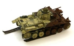 2号戦車F型 ダークイエローとチッピング