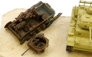 2号戦車F型 ピグメントで錆を表現