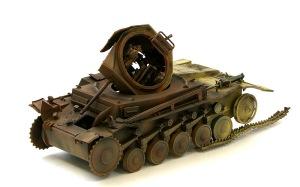 2号戦車F型 埃色を吹く