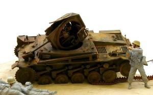 2号戦車F型 ピグメントでウエザリング