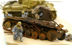 2号戦車F型 ピグメントを定着させる