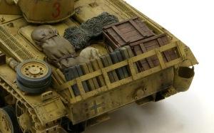 3号戦車J型 荷物の塗装と仕上げ