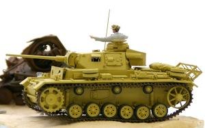 3号戦車J型 履帯、転輪の塗分け