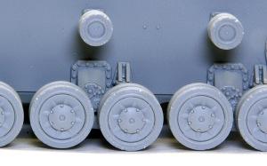 4号戦車F1型 増加装甲付 転輪のダメージ表現