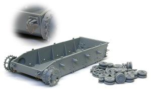4号戦車F1型 増加装甲付 シャーシと車輪の組み立て