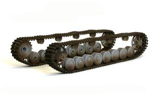 4号戦車F1型 増加装甲付 履帯の下塗り