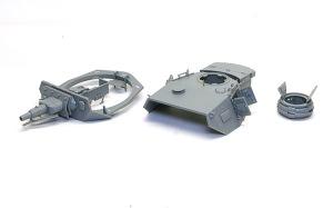 4号戦車F1型 増加装甲付 砲塔の組み立て