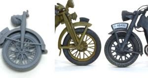 過去のバイクキットとのスポークの比較