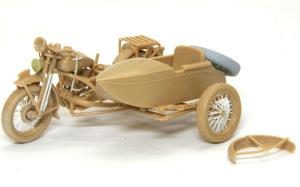 九七式側車付き自動二輪車 側車の組立て