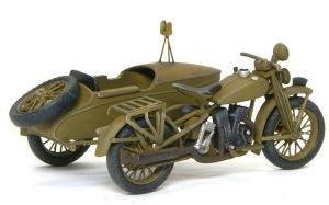九七式側車付き自動二輪車 ウオッシングとドライブラシ