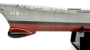 護衛艦さざなみ 艦首のウエザリング