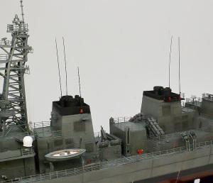 護衛艦さざなみ ホイップアンテナ