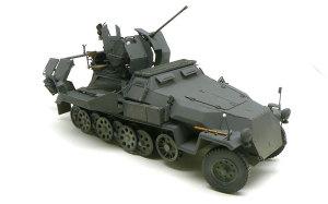 対空自走砲 Sd.kfz.251/17C型 車輪の塗分けと取り付け