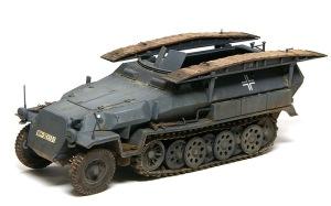 装甲工兵車Sd.kfz.251/7C型 ピグメントで汚し