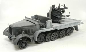 8トンハーフトラック4連高射砲 の組み立て完了