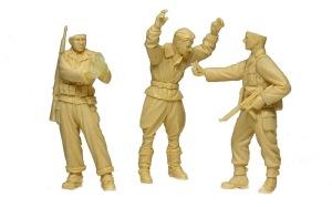 アメリカ歩兵とドイツ軍パイロット 組み立て