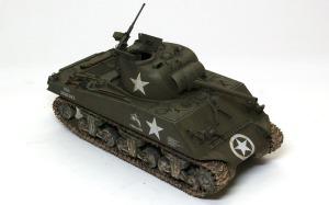 M4A3シャーマン(RC) ウオッシングとドライブラシ