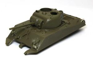 M4A3シャーマン(RC) 車体の組立て完了
