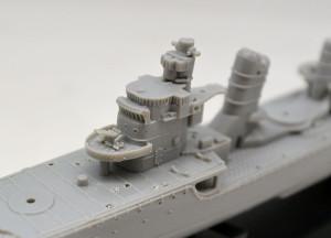 駆逐艦島風 最終時 艦橋と煙突