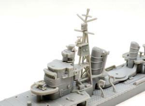 駆逐艦島風 最終時 前檣などの組立て