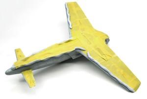 機体下面の塗装とマスキング